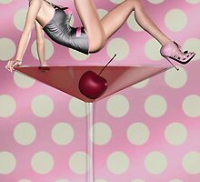 Cosmo Girl PinUp card by Alicia Hollinger by Alicia Hollinger