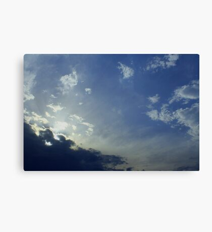 Cloudscape HELP! Canvas Print