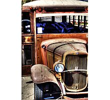 Rusty Old Ford Bus Photographic Print