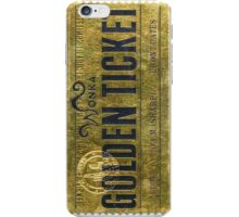 Golden Bar Willy Wonka  iPhone Case/Skin