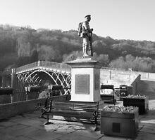 War Memorial and the great Ironbridge shropshire by Lawson Clout