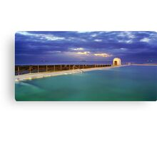 Dawn at Merewether Baths Canvas Print