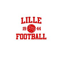Lille Football Athletic College Style 2 Gray Photographic Print