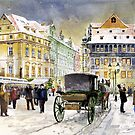 Prague Old Town Square Winter by Yuriy Shevchuk