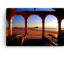 Nobbys Sunrise (From Nobbys Beach) Canvas Print