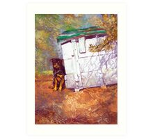 Kennel Day - Australian Kelpie Art Print