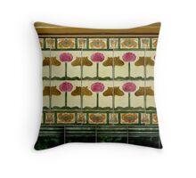art nouveau ceramics Throw Pillow