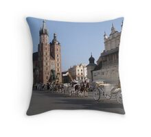 Market Square, Krakow Throw Pillow