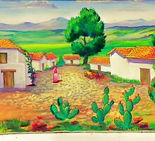 Desert Folk Art - The Village by wiscbackroadz