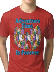 Adventure Time Is Forever (blue font) Tri-blend T-Shirt