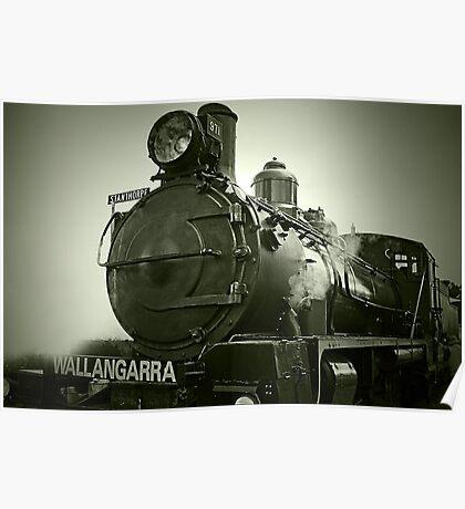 The Steam Engine Wallangarra Poster