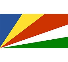 Flag of the Seychelles Photographic Print