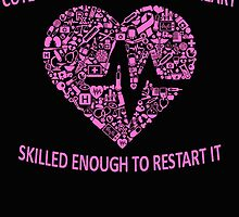 CUTE ENOUGH TO TAKE YOUR BREATH AWAY AND SKILLED ENOUGH TO BRING IT BACK (PINK) by fandesigns