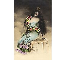 Vintage *Flower Belle in the Clouds* Photographic Print