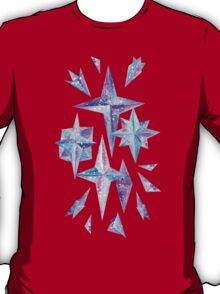 Watercolor Ice Wind Rose Crystals T-Shirt