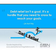 A Quotography on Debt Relief by Infographics