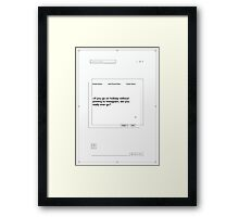 If You Go On Holiday... Framed Print
