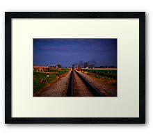 Watching The Train Come-Strasburg Railroad Framed Print