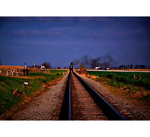 Watching The Train Come-Strasburg Railroad Photographic Print