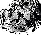 Sleeping woman's head -(220515)- Digital art: Zen Brush App by paulramnora