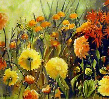 Dad's Dahlias by Cal Kimola Brown