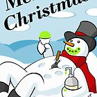 Snowman Snow Cone Greeting Card by peabody00