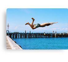 Portsea Pier Dive Canvas Print