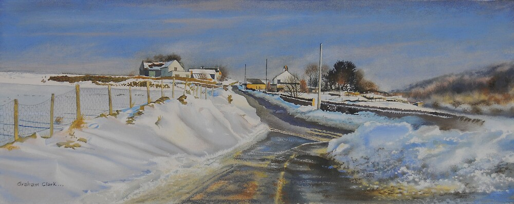 Snow drifts in The Derbyshire Dales by Graham Clark