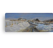 Snow drifts in The Derbyshire Dales Canvas Print
