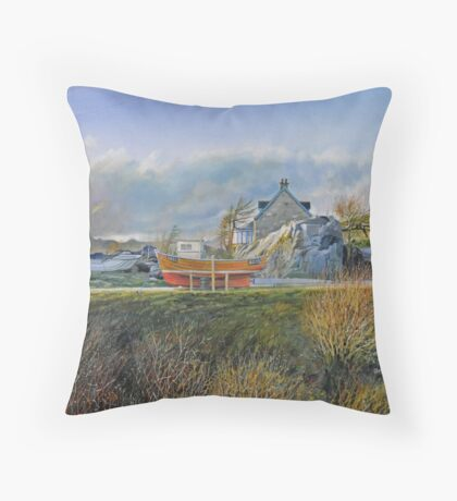 Towards The Cuillins at Elgol, Skye Throw Pillow