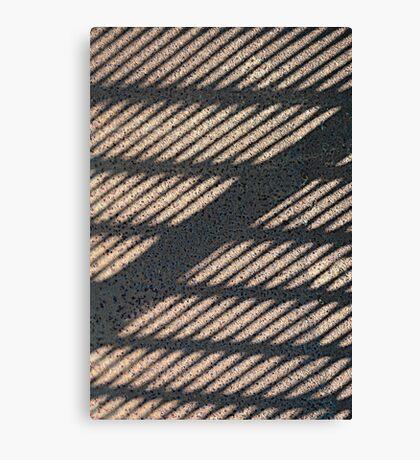 Shadow Grid Canvas Print