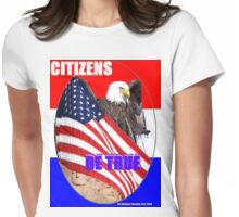 American Patriot BE TRUE Womens Fitted T-Shirt