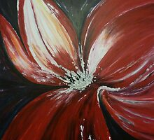Red FLower by Shelagh Linton