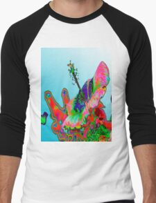 Psychedelic Pink Hibiscus T Men's Baseball ¾ T-Shirt
