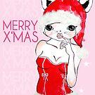 Merry X'Mas Greeting Card 01-Pink by D.U.R.A .