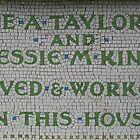 Mosaic Plaque on Greengate  by mohawkshed