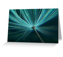 Charged in Blue Three Greeting Card