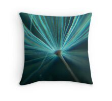 Charged in Blue Three Throw Pillow