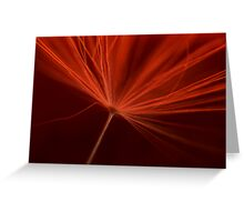 Charged in Red One Greeting Card