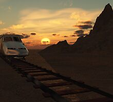 High speed in the desert by Dawnsky2