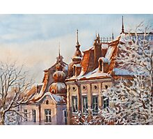 Winter Roofs Photographic Print