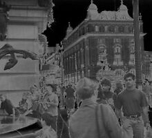 Photographic Art.  Piccadilly circus, solarisation by Streetpages