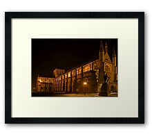 Winchester Cathedral at Night 1 Framed Print