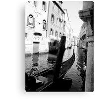 Venice black and white Canvas Print