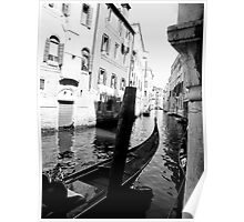 Venice black and white Poster