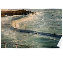 sea,rail,curve Poster