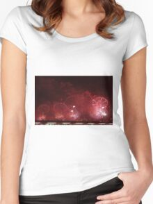 MACY'S FIREWORKS DISPLAY 2012 Women's Fitted Scoop T-Shirt