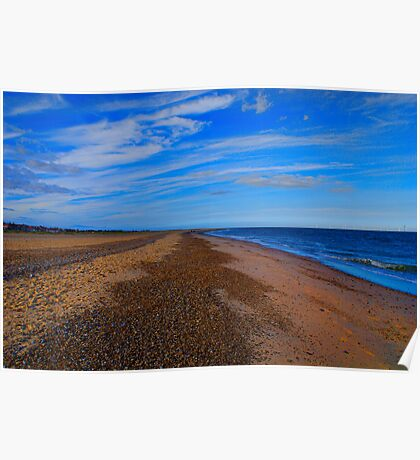 Great Yarmouth Beach, Norfolk, UK Poster
