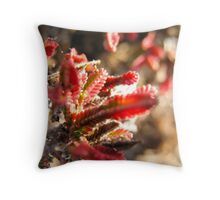 Red Gummy Bear Plants Throw Pillow