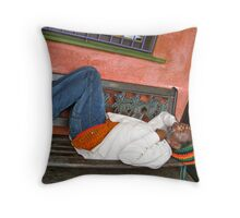 Peace Pipe Throw Pillow